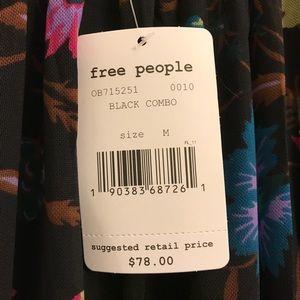 Free People Tops - NWT Free People Black Honey Floral Top
